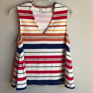 Anthropologie postmark multicolored tank medium